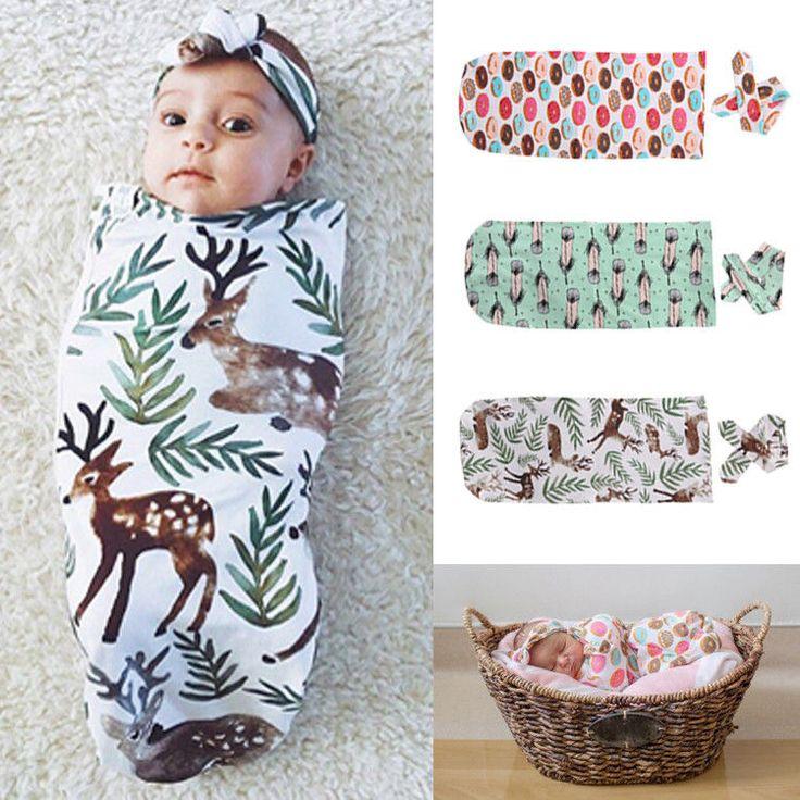 2 Pz Neonato Swaddles Infant Bebes Biancheria Da Letto In Cotone Fasciatoio Coperta Wrap Sacco A Pelo Sleepsack 0-12