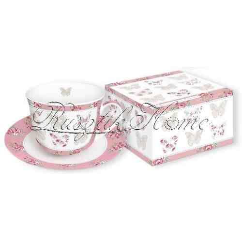 Maison de Papillions pillangós reggeliző készlet díszdobozban. A készlet tartalma: egy porcelán  teáscsésze tányérral. http://rusztikhome.hu/muzlis-talak-reggelizo-szettek/1300-maison-de-papillions-pillangos-reggelizo-keszlet-diszdobozban.html