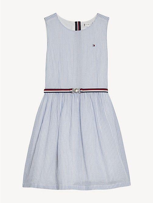 Kleider Fur Madchen Tommy Hilfiger De Kleider Fur Madchen Kleid Mit Gurtel Gestreiftes Kleid