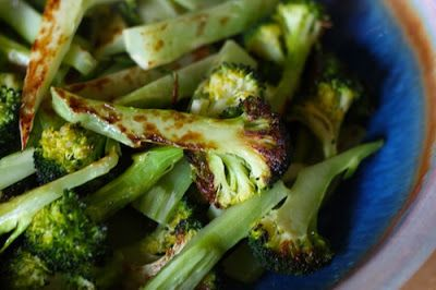 Roasted broccoli Add half the salt this calls for, or use more broccoli.