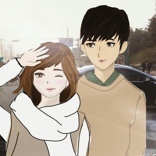 Dalya 91 On Instagram رسمتي كلنا رسامين رسماتي Drawing Draw Anime Art Healer Healercouple Korean Drama No One Loves Me First Love Anime