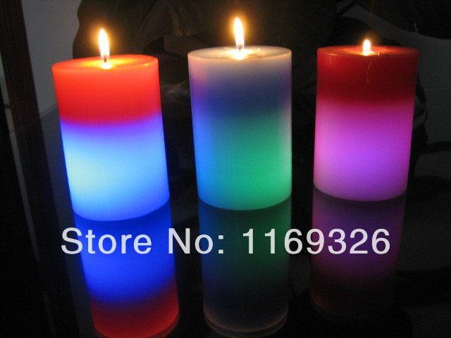 Оптовая продажа новый 2016 магия изменения цвета свечи столба из светодиодов candls романтический свечи подарочной коробке продвижение из светодиодов свечи