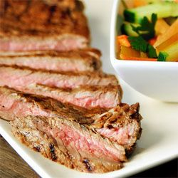 Steak as steak was meant to be. Marinaded Entrecote. Step by step photo directions.