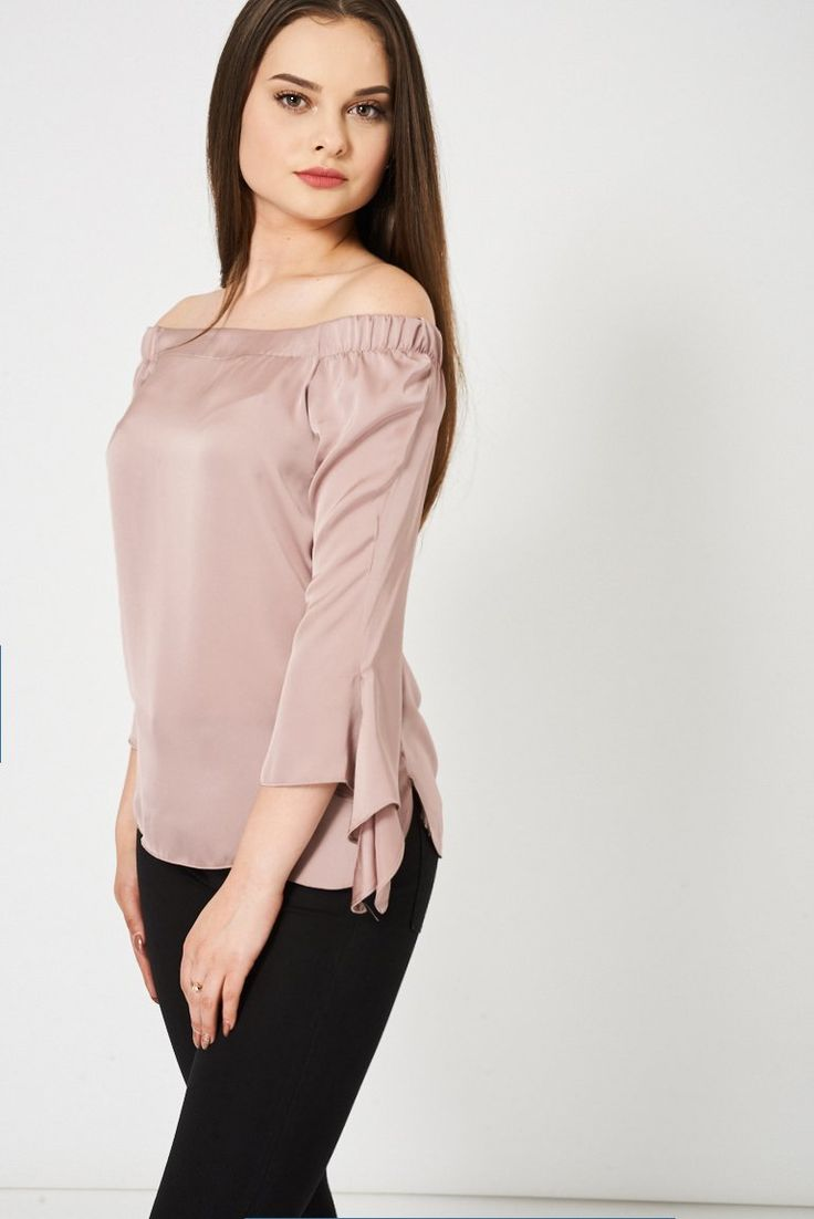 Nude Bardot Top Ex-Branded Available In Plus Sizes