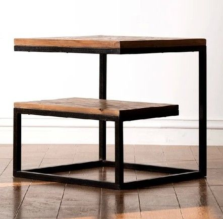 Cheap New American retro wood to do the old antique pine furniture, wrought iron coffee table corner a few side a few phone a fe