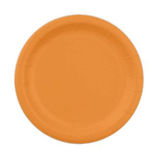 Custom Light Orange Paper Plate 7 Inch Paper Plate
