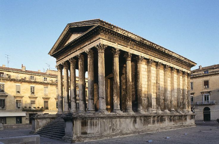 The maison carr e in n mes france is a roman temple built - Maison carree nimes ...