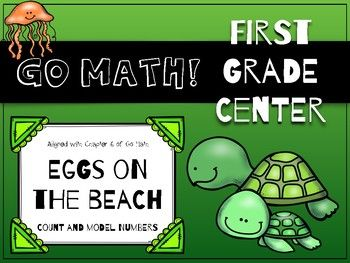 Go Math! First Grade Chapter 6 Center: Eggs on the Beach. This game was specifically created to support Chapter 6 of the first grade Go Math! curriculum, but it can be used by anyone to reinforce place value skills!