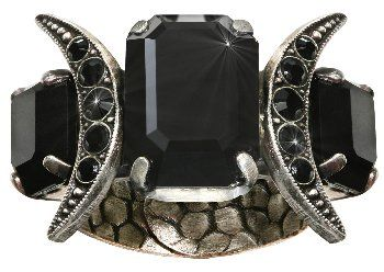 image for ring Art Deco Oriental black
