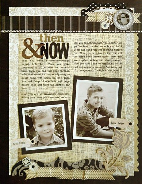 Ideas and inspiration for comparing and scrapbooking your past and present from contributing writer Jean Manis.