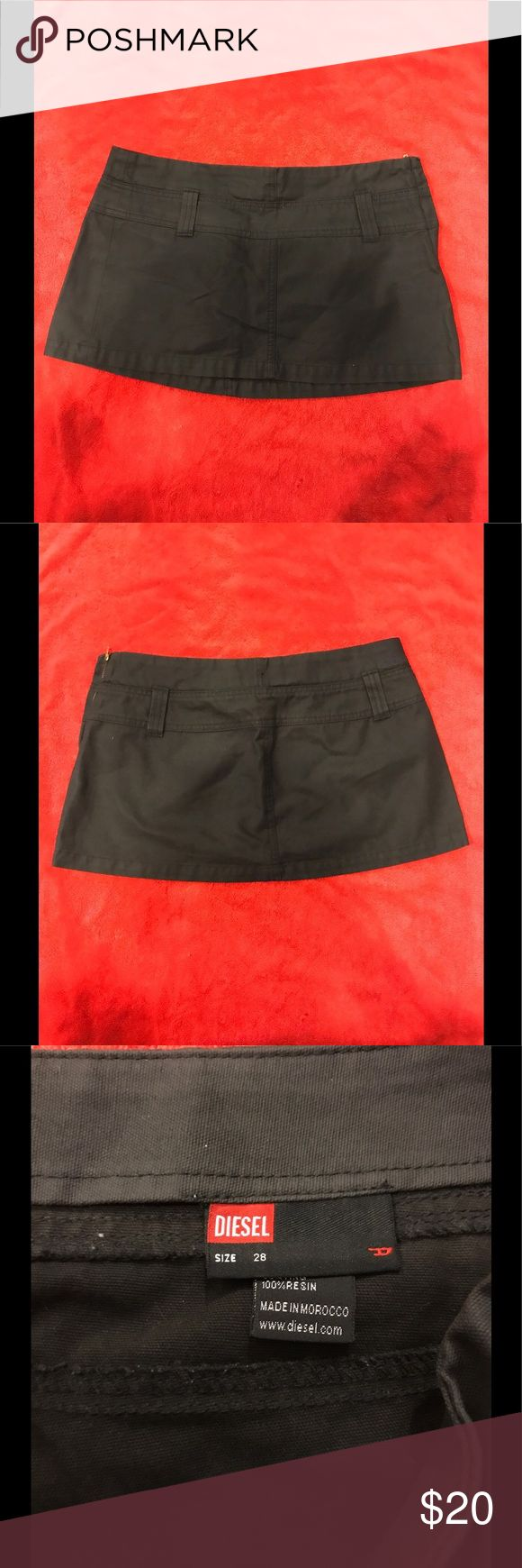 Women's diesel skirt Authentic women's diesel skirt. Color is army green. Good condition. Size 28 Diesel Skirts