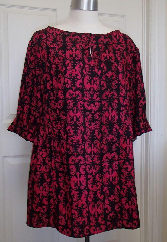 Distinctive Sewing Supplies - Gothic Red Turkish Ornament Batik Rayon, $17.99 Burda #6761 (http://www.distinctivesewing.com/gothic-red-turkish-ornament-batik-rayon/)