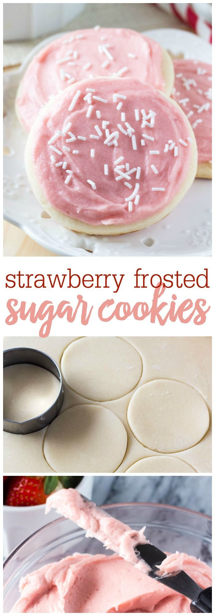 These strawberry frosted sugar cookies are so soft that they melt in your mouth. Then the strawberry frosting makes them extra special. If you love Lofthouse sugar cookies - you need to try these!