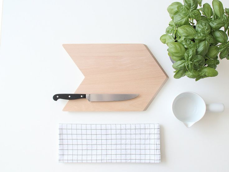 Give your kitchen a modern upgrade with a sleek chevron cutting board.