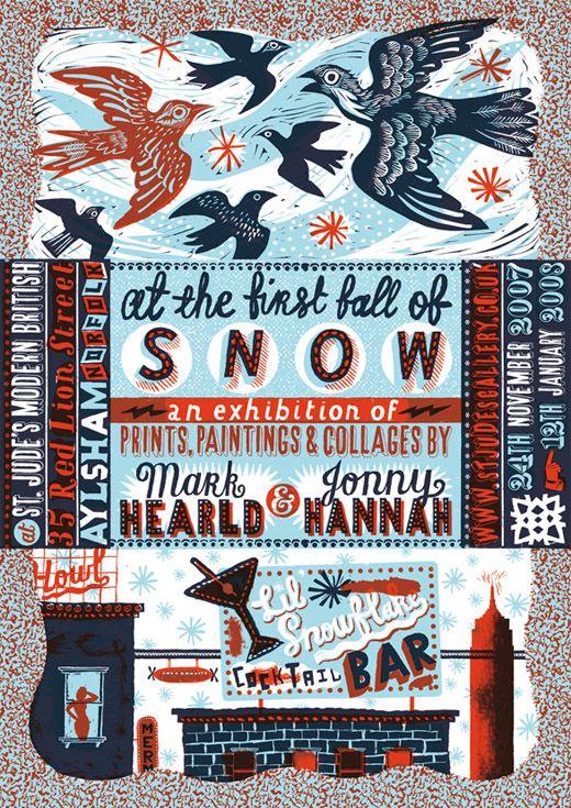 Mark Hearld exhibition poster