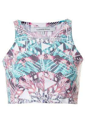 **Kaleidoscope Crop Top by Illustrated People