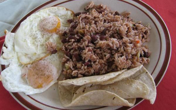 Gallo pinto  (beans and rice) is the national dish of Costa Rica and we got this authentic Tico recipe from the kitchen of Mercedes and Quincho Rodriguez