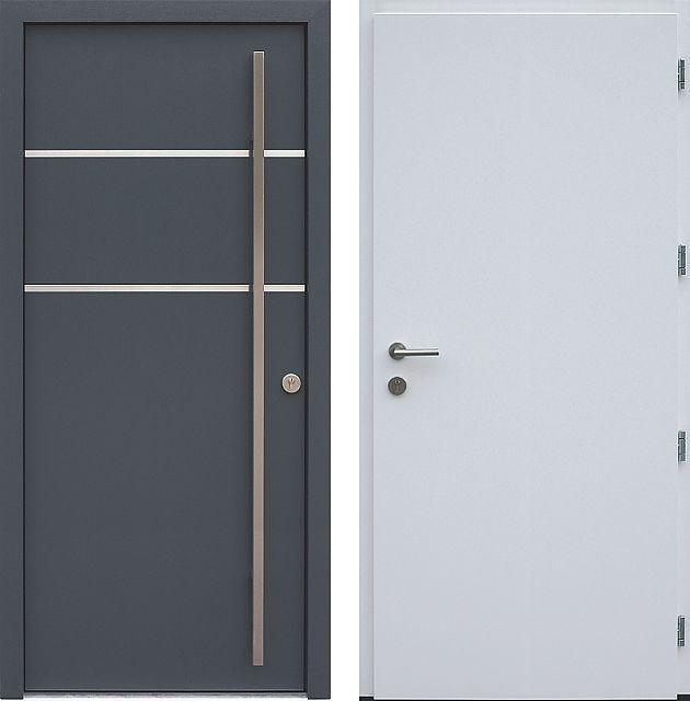 Drzwi wejściowe do domu z katalogu inox wzór 424,1-424,11