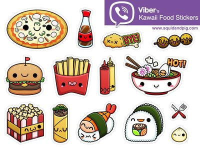 kawaii food stickers for viber 02 kawaii search and stickers. Black Bedroom Furniture Sets. Home Design Ideas