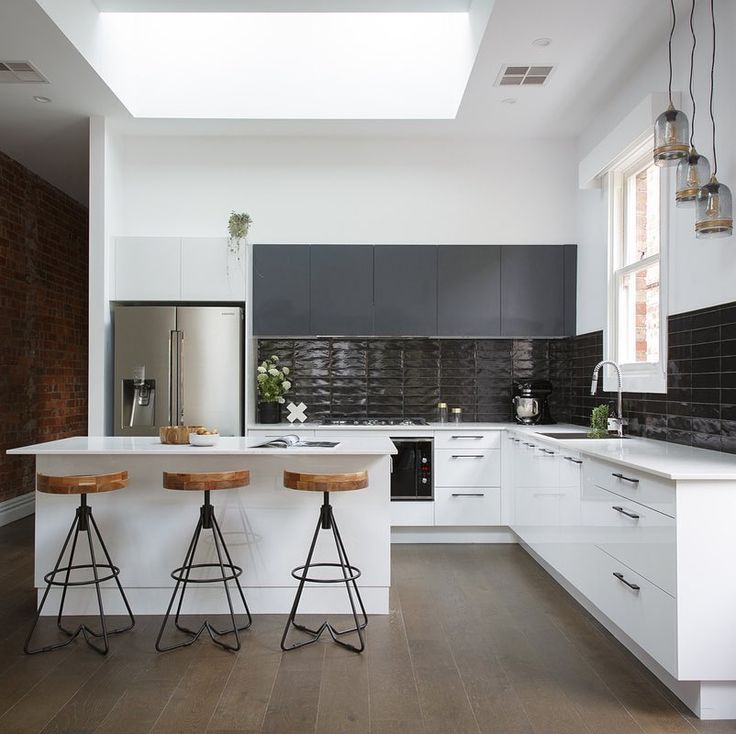 Modern Industrial Kitchens: 17 Best Ideas About Small Modern Kitchens On Pinterest