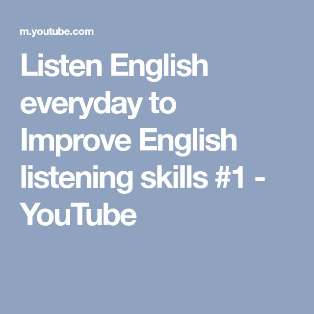 Listen English everyday to Improve English listening skills #1 - YouTube