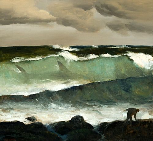 Shark in a Wave   -  Rick Amor Australian  b.1948-