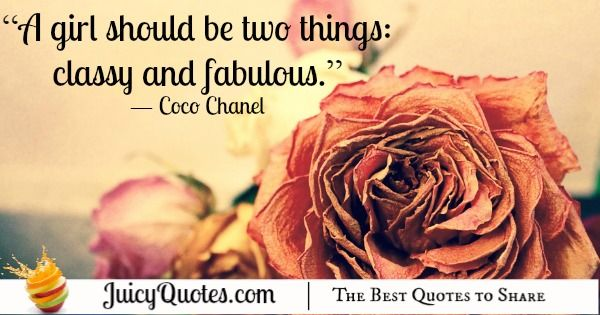 Quote About Beauty - Coco Chanel 2