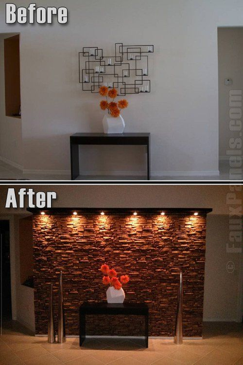 Delightful Faux Wall Paneling Paired With Custom Lighting Can Create A Dramatic  Display Foru2026