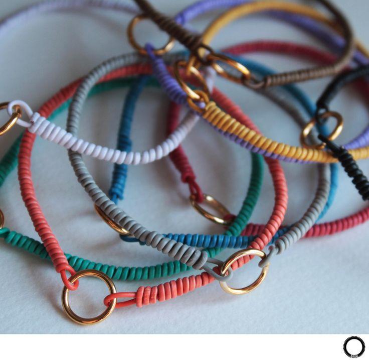 BRĂȚARĂ - cablu industrial rotit; 10 culori / BRACELET - hand spinned electric cable; 10 colours