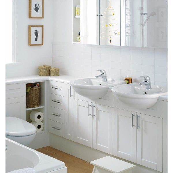 Image of Brilliant Houzz Bathroom Storage Cabinets Using Polished White Furniture with Shaker Style Door Panels and A Pair of Semi Recessed Basin Unit Including Single Hole Chrome Faucet with Very Small Corner Bathroom Sinks Black Bathroom Wall Cabinet Pact Wood Steel Bathroom Sink Corner Bathroom Sink Bathroom Sinks