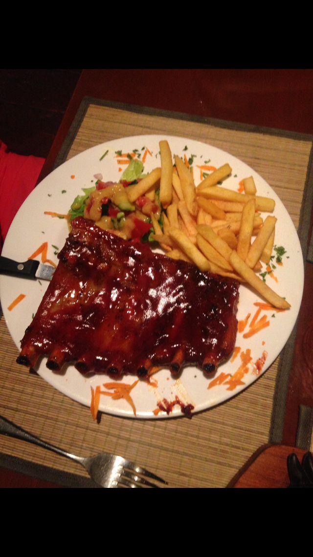 Rack of ribs in Roda Corfu