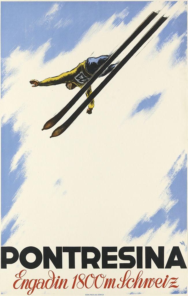 ALEX WALTER DIGGELMANN (1902-1987) PONTRESINA. Circa 1930.