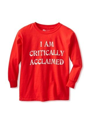 67% OFF Little Dilascia Kid's Critically Acclaimed Long Sleeve Tee (Red)