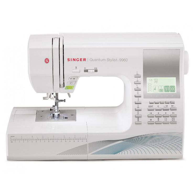 View all the features for the Singer 9960 Quantum Stylist and compare to other computerised sewing machines. Includes extension table and accessories.