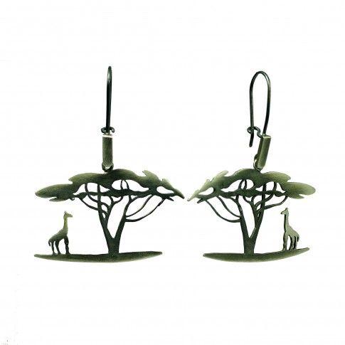 Safari - srebrne kolczyki