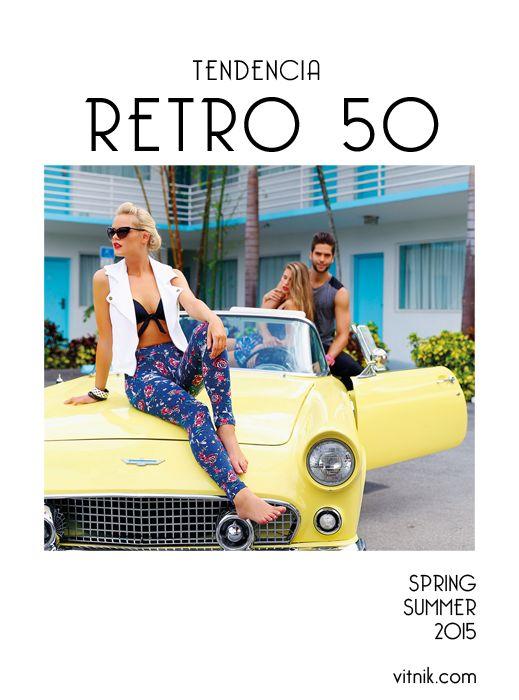 Retro 50: la estética de los años 50 vuelve esta temporada con renovados aires. Los estampados tienen como leit motiv los tattoos con calaveras y corazones con leyendas.