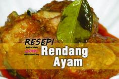 #ResepiRendangAyam #Resepi #OpenHouseRaya #WomDotMy Rendang Ayam! Antara menu penting di Hari Raya.Cukup nikmat apabila dicicah bersama ketupat ataupun lemang.Cuba resepinya di  http://www.wom.my/saji/resepi-rendang-ayam-raya/