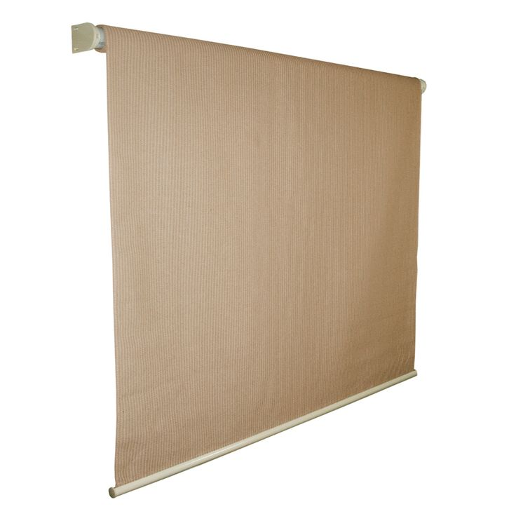 Shop Coolaroo 96-in W x 72-in L Almond Light Filtering Cordless High-Density Polyethylene Exterior Shade at Lowes.com