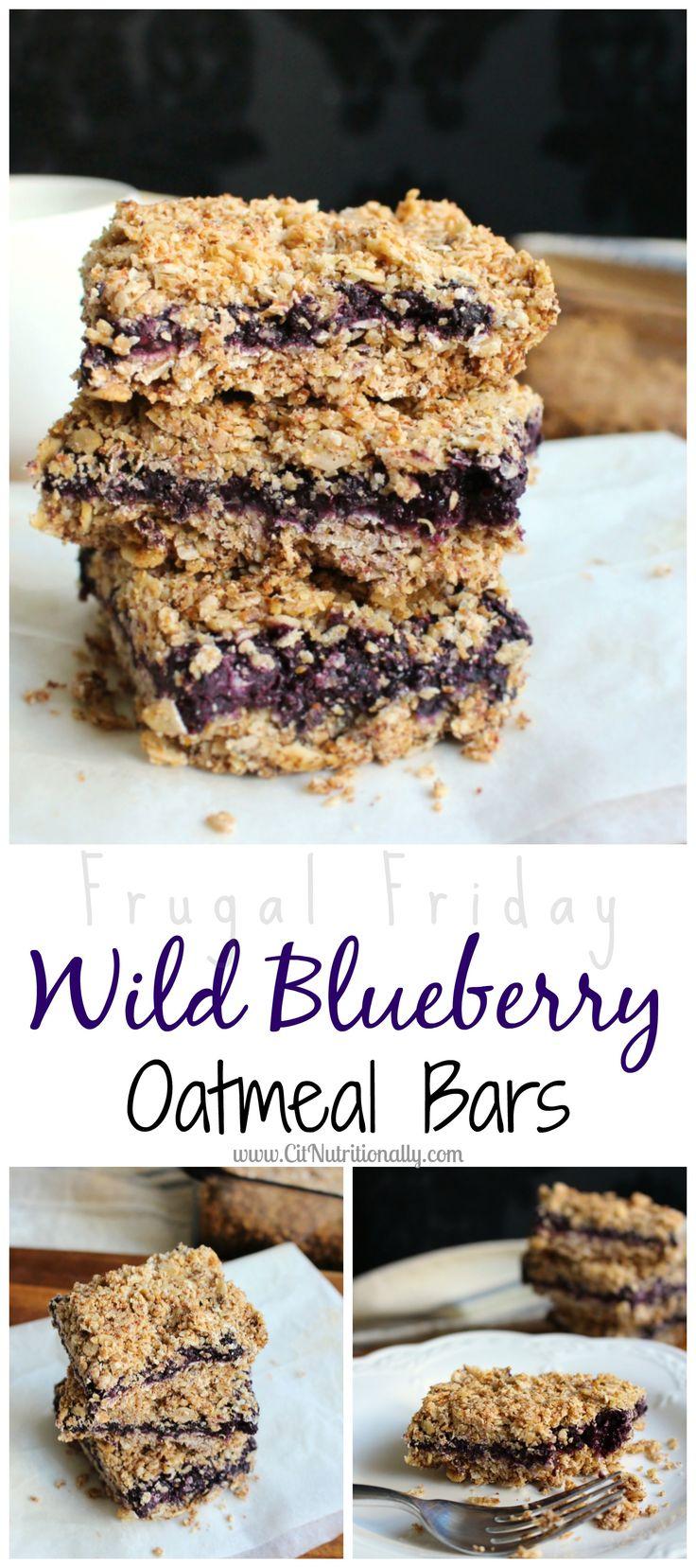 {Frugal Friday} Wild Blueberry Oatmeal Bars | C it Nutritionally #vegan #glutenfree #lowfodmap