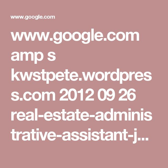 administrative assistant career development wwwgooglecom amp s kwstpetewordpresscom 2012 09 26 real - Church Administrative Assistant Salary