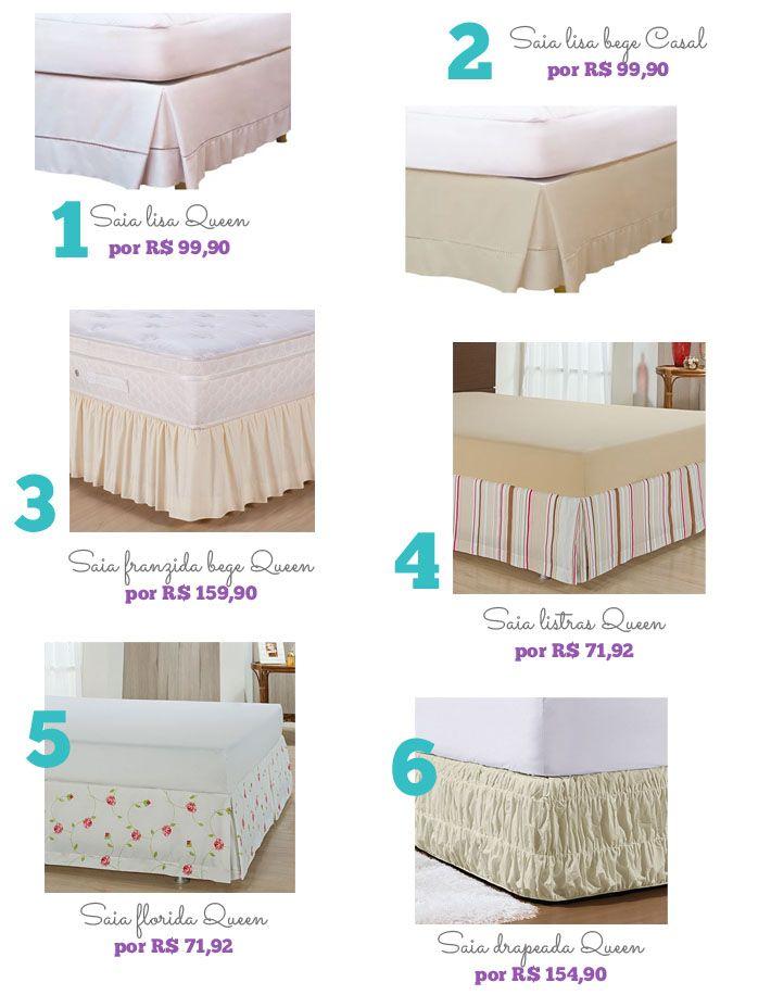 Tipos de saias para cama box