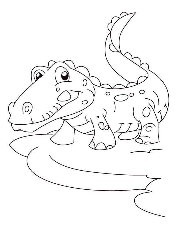 valentine coloring pages alligators - photo #10