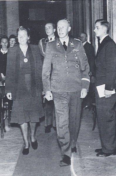 Heydrich and his wife Lina attending a concert in honor of his father, on May 26, 1942, the night before his assassination.