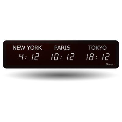 Horloge LED Style Mondiale - 3 villes