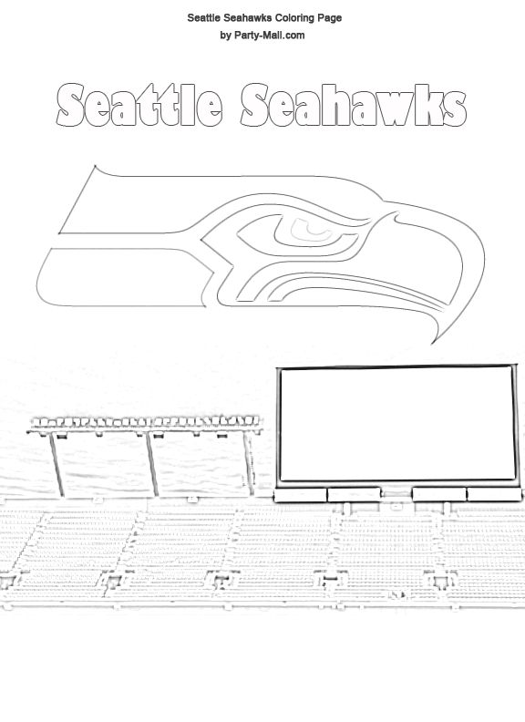 free seattle seahawks coloring page