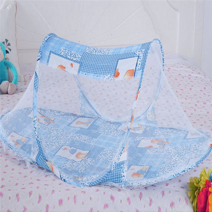 3 Colors Portable Baby Bed Crib Folding Mosquito Net Cushion Mattress Summer Baby Infants Mosquito Polyester Mesh Crib Netting