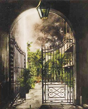 Gate at Court of Two Sisters      New Orleans
