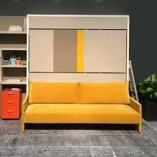 Våningsväggsäng / sängskåp med soffa Bunk wall bed with sofa