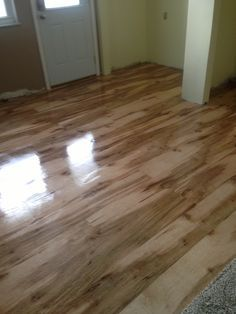 The final finish of the plywood floor , love only cost $100.00 dollars total !