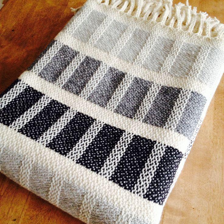 A woolen shawl / blanket I designed for Homecrafts. www.homecrafts.fi
